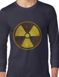 Radioactive Fallout Symbol - Nerd Science Long Sleeve T-Shirt