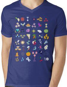 Cutie Marks Mens V-Neck T-Shirt