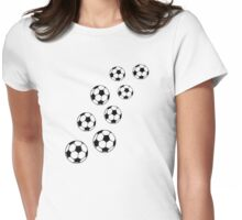 Soccer balls Womens Fitted T-Shirt