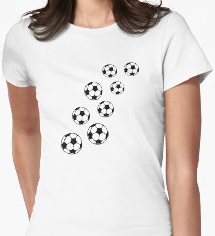 Soccer balls Womens Fitted T-Shirt