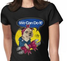 We Can Do It! Pup Womens Fitted T-Shirt