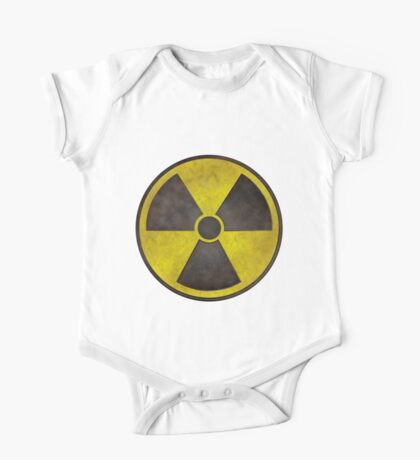 Radioactive Fallout Symbol - Dirty Nerd One Piece - Short Sleeve