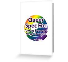 QSF Forward Logo - White Greeting Card
