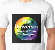 QSF Universe Logo - Black Unisex T-Shirt