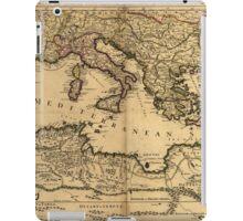 Vintage Map of The Mediterranean Sea (1685) iPad Case/Skin
