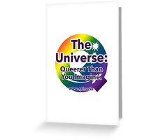 QSF Universe Logo - White Greeting Card