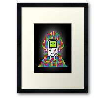 Throne of Tetris Framed Print