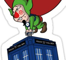 Tingle & The Tardis Sticker