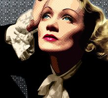 Marlene Dietrich Portrait by Everett Day