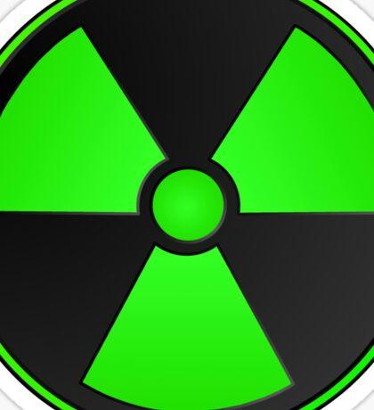 Green Radioactive Symbol Sticker