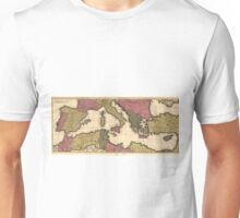 Vintage Map of The Mediterranean (1695) Unisex T-Shirt