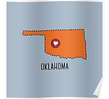 Oklahoma State Heart Poster