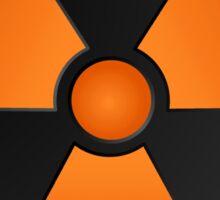 Orange Radioactive Symbol Sticker