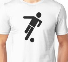 Soccer football player icon Unisex T-Shirt