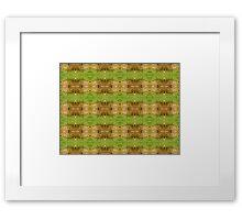Fence Greenery Pattern Framed Print