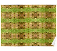 Fence Greenery Pattern Poster