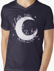Love to the Moon Mens V-Neck T-Shirt