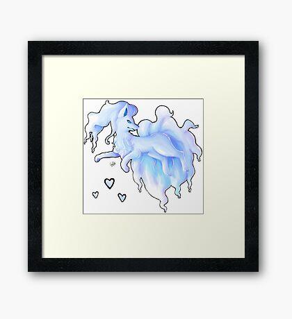 Alola Ninetails  Framed Print
