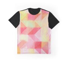 Pink and Green painterly Geometric  Graphic T-Shirt