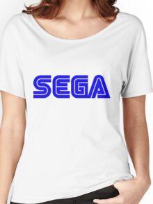 Blue Sega Logo Women's Relaxed Fit T-Shirt