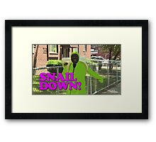SNAIL DOWN Framed Print