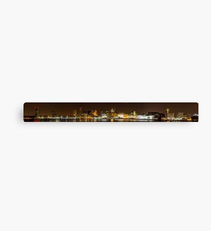 Liverpool at Night Panorama Canvas Print