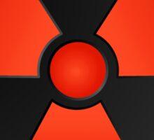 Red Radioactive Symbol Science Sticker