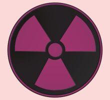 Dark Pink Radioactive Symbol Girl Kids Tee