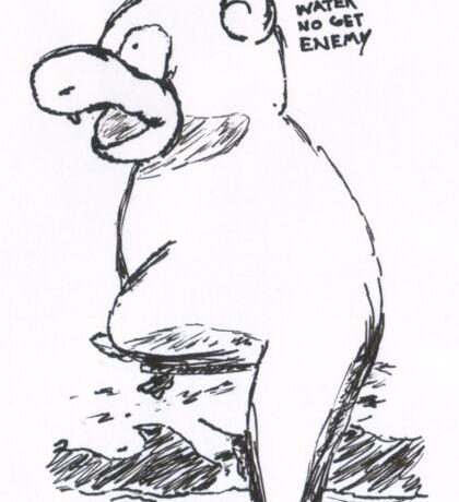 slowpoke - water no get enemy Sticker