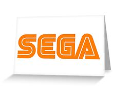 Orange Sega Logo Greeting Card