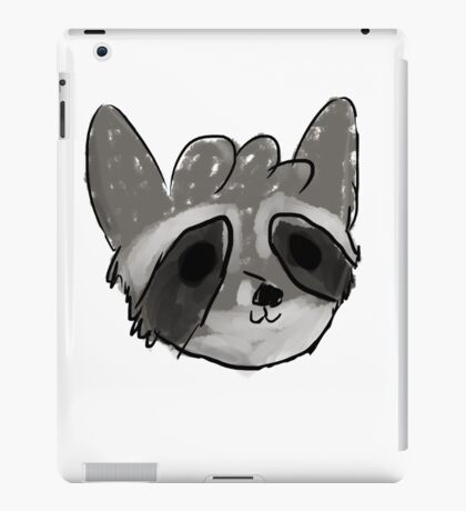 Raccoon Cute Hand Drawn iPad Case/Skin