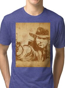 Cowboy - vintage Tri-blend T-Shirt