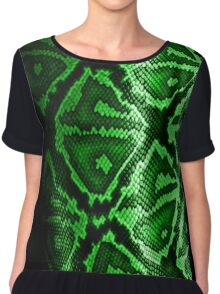 SERPIENTE VERDE Chiffon Top