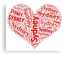 Sydney - Red Heart Canvas Print
