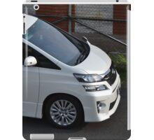 white colored toyota vellfire iPad Case/Skin