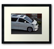 white colored toyota vellfire Framed Print
