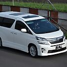 white colored toyota vellfire by bayu harsa