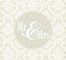 "Ivory Damask ""Mr & Mrs"" by SimplyPut"
