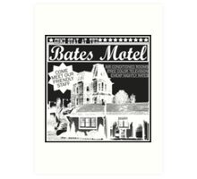 Bates Motel - White Type Art Print