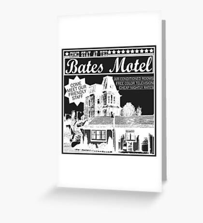 Bates Motel - White Type Greeting Card