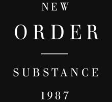 New Order : Substance 1987 -inverse- by Joy Division