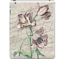 Amethyst Tulip French Botanical Digital Collage  iPad Case/Skin