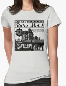 Bates Motel - Black Type Womens Fitted T-Shirt