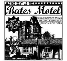 Bates Motel - Black Type Photographic Print