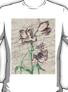 Amethyst Tulip French Botanical Digital Collage  T-Shirt