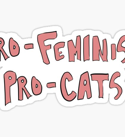 feminism and felines Sticker