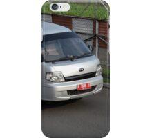 silver colored KIA travello iPhone Case/Skin