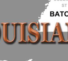 Louisiana State Pride Map Silhouette  Sticker