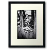 fishing gloves Framed Print