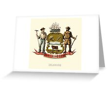 Historical Coat of Arms of Delaware Greeting Card